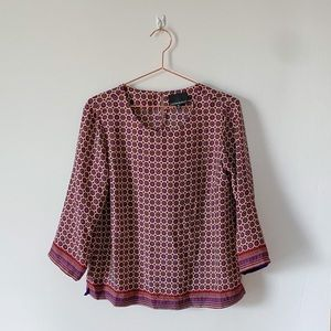 CYNTHIA ROWLEY | Boho Patterned Top | Medium